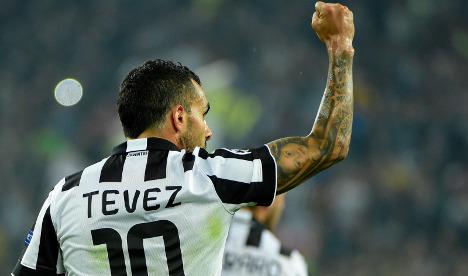 Tevez strike gives Juve win over Real Madrid