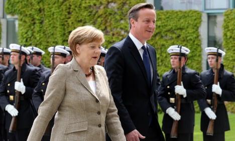 Cameron and Merkel sing from same hymn sheet