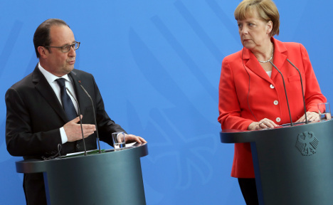 Merkel and Hollande urge speedy Greece deal