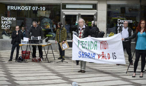 Swedish anti-Islam rally only attracts handful