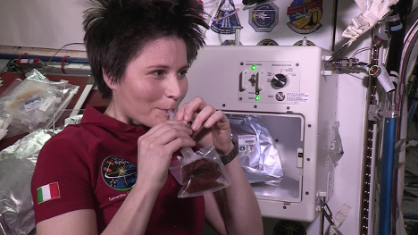 Italian astronaut has first espresso in space
