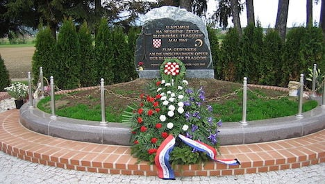 Croatian leader pays tribute to collaborators