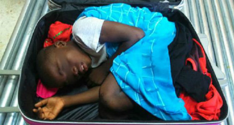 Border X-ray reveals boy, 8, smuggled in suitcase