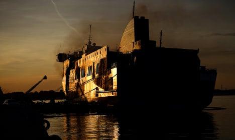 Fire breaks out on ferry off Puglian coast