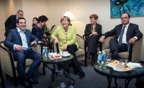 Merkel pushes for Greece deal at Euro meet