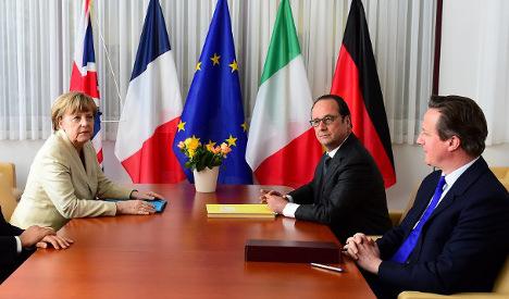 Hollande and Merkel deliver blow to Cameron