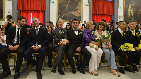 First civil unions celebrated in Rome
