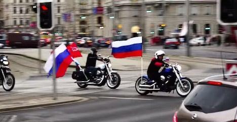 Putin's Nightwolves visit Vienna