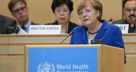 Merkel warns WHO meet of antibiotics dangers