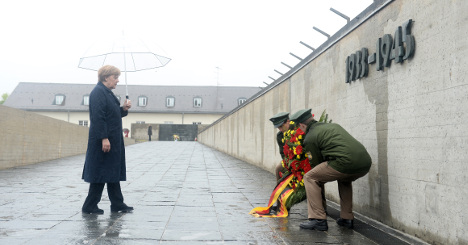 Merkel joins Holocaust survivors to mark Dachau liberation