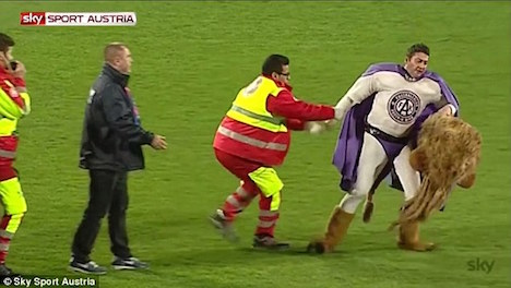 Austrian club mascot drunk on match day
