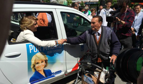 Madrid taxis defaced over political posters