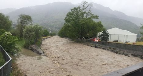 Torrential rain swells Swiss rivers and lakes