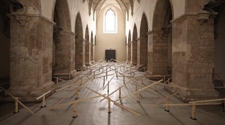 Mechanical seesaws take over former church