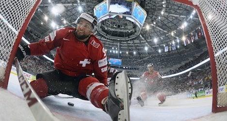 Latvia stuns Switzerland in World Cup hockey