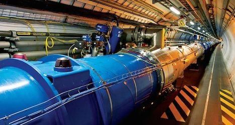 Geneva particle smasher sets energy level record