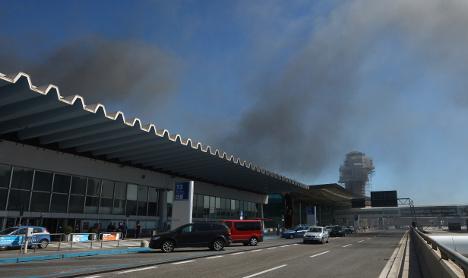 Five investigated over Fiumicino airport fire