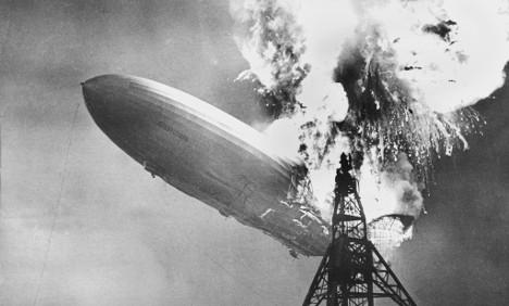 Hindenburg crash ends an era in air travel