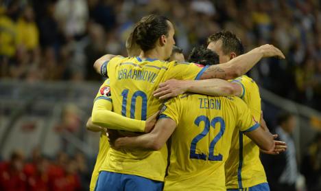 Zlatan double scores Sweden Euro 2016 win