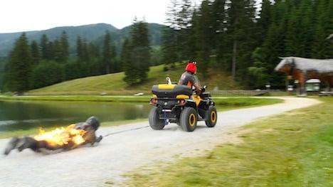 Austrian stuntman breaks world fire records
