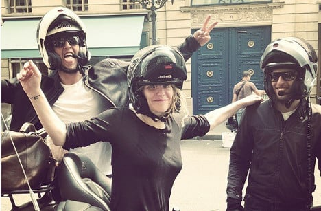 Courtney Love egged in Paris anti-Uber protest