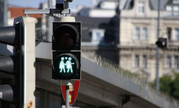 Salzburg embraces gay traffic lights