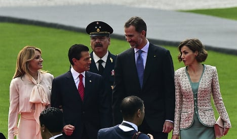 Spanish King and Queen on state visit to Mexico