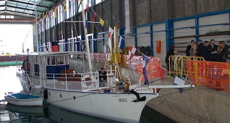 Oldest Swiss motor boat sails again after refit