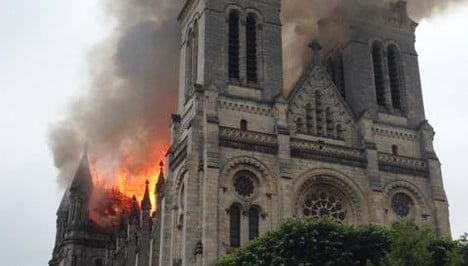Blaze ravages historic basilica in France