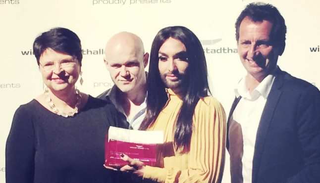 Stadthalle 'wing' award for Conchita