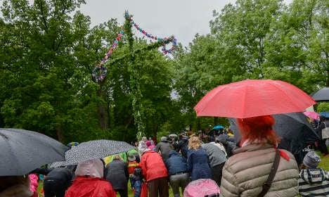Rain dampens Swedish Midsummer madness