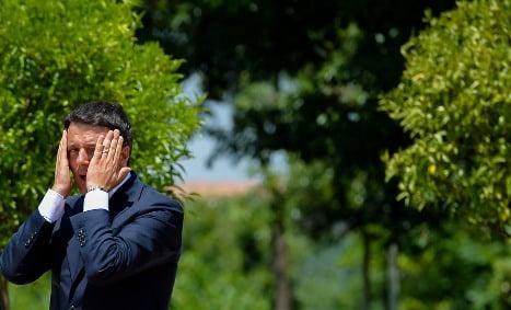 Migration and corruption hit Renzi's popularity