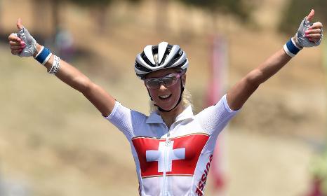 Swiss cyclist Jolanda Neff rides into history
