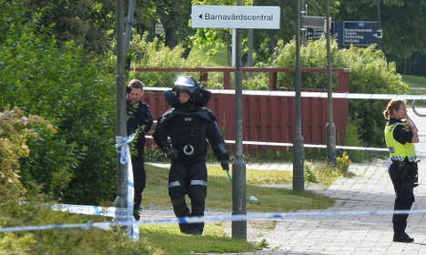Grenade attack in southern Sweden