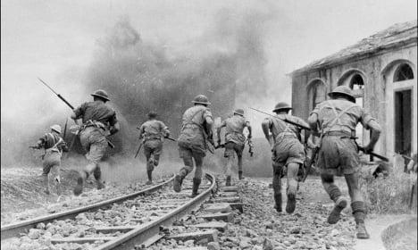 Dog digs up World War II hand grenade