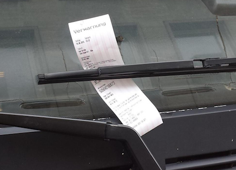 Austrian art attracts parking fine in Germany