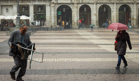 Summer in Madrid: Hail, storms and flashfloods