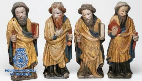 Stolen Swedish art returned by Spanish