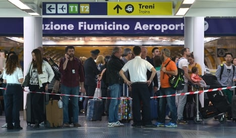 Rome airport reduces flights after blaze