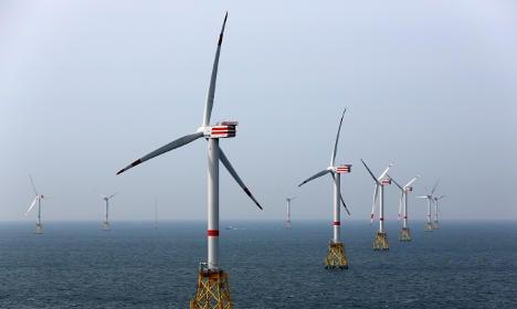 German offshore wind power breaks records