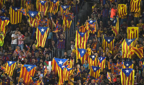 Barça to appeal Uefa fine for independence flags