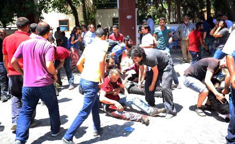 March for Kurdish terror victims turns violent