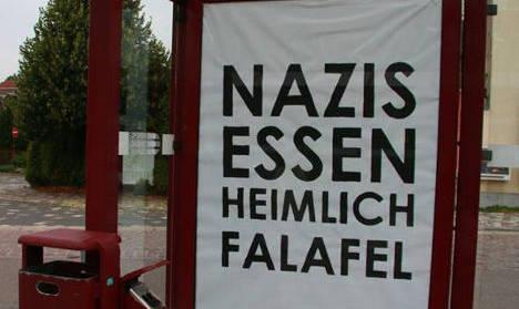 Nazis eat falafel in secret, artists claim