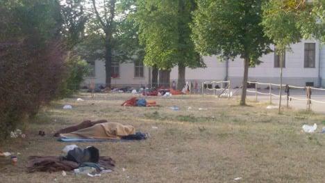 Refugee intake halted at 'inhumane' camp