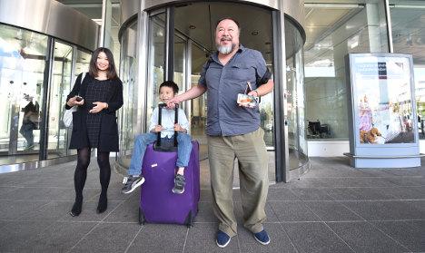 Ai Weiwei in Germany as UK slammed over visa