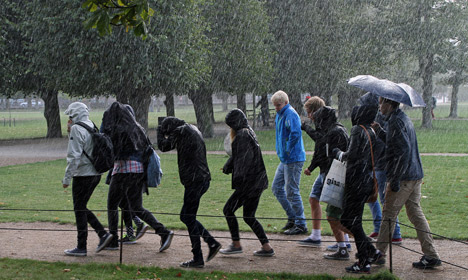 Wet and windy weekend for Denmark