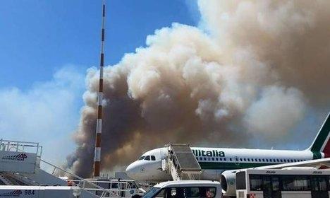 Probe opens into fire near Rome airport