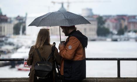 Weekend heavy rain warnings across Sweden
