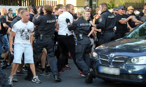 Three injured in Dresden anti-immigrant demo