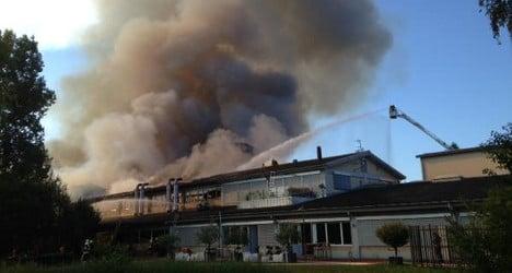 Huge blaze breaks out in Thurgau warehouse